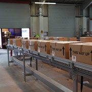 Conveyors organise parcels ready for despatch