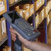 Hand held barcode scanner, making scanning barcodes for order picking easy and error free