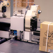 Labelling system designed by Axiom for PMS to label parcels correctly