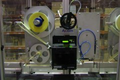 Axiom's labelling system ready to label DVDs at Cinram, Madrid