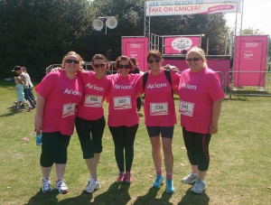 Axiom GB sponsors Race for Life Team